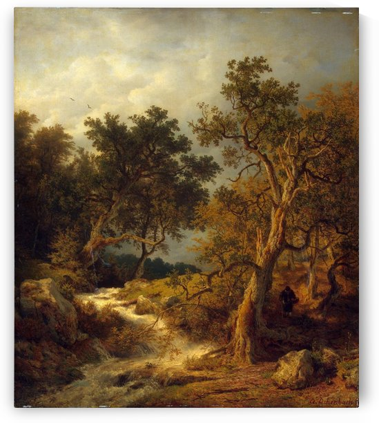 Landscape with a Stream by Andreas Achenbach