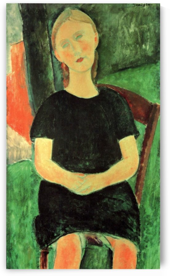 Modigliani - Sitting girl by Modigliani