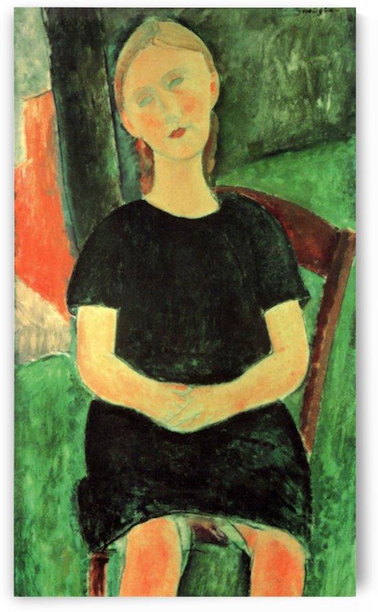 Modigliani - Sitting girl by Modigliani