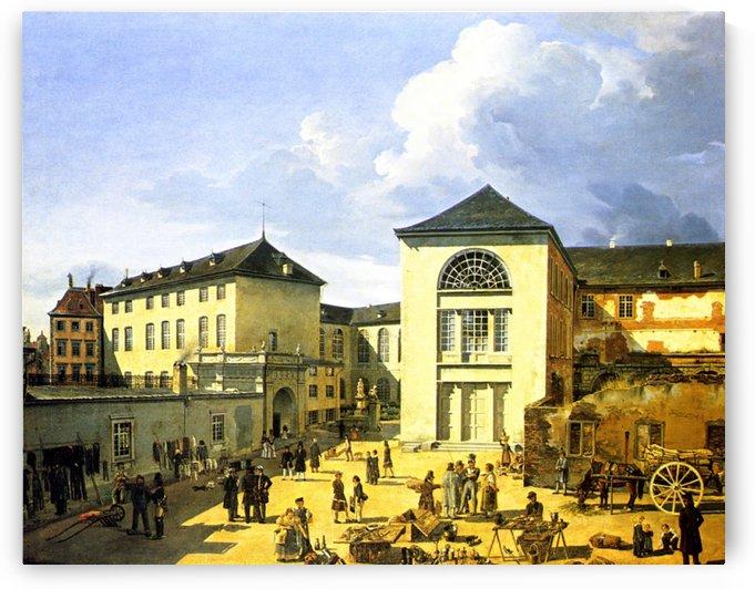Die alte Akademie in Dusseldorf by Andreas Achenbach
