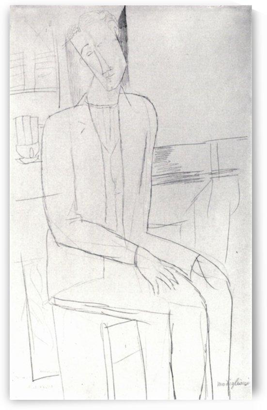Modigliani - Sitting man by Modigliani