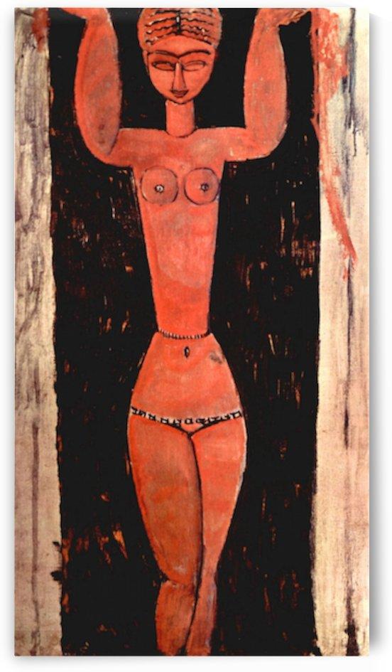 Modigliani - Standing Karyatide by Modigliani
