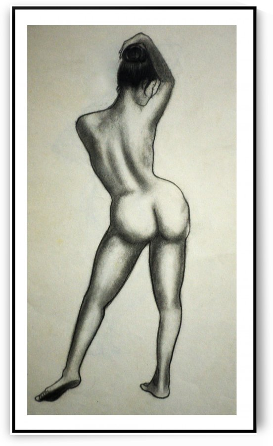 Female full nude back by Dayalan Oviyan