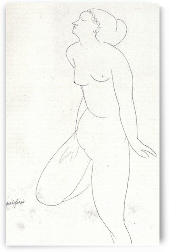 Modigliani - Standing Nude -2- by Modigliani