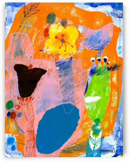 Tiny Yellow Flower by Zhanna Shomakhova