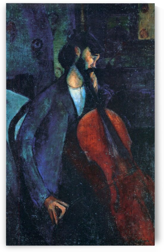 Modigliani - The Cellist by Modigliani