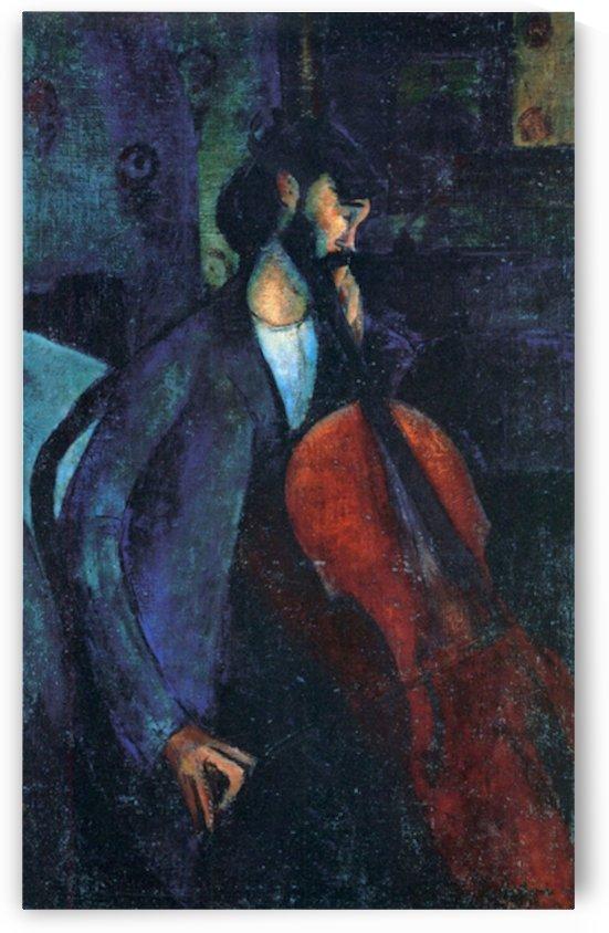 Modigliani - The Cellist by Modigliani