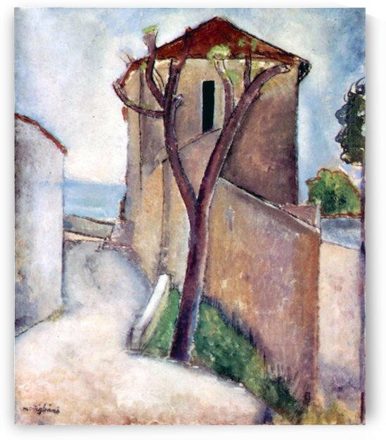 Modigliani - Tree and House by Modigliani