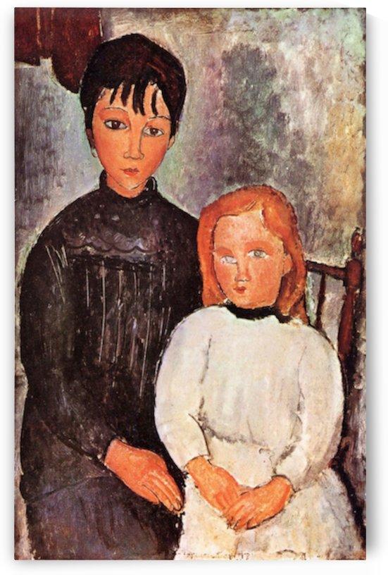 Modigliani - Two children by Modigliani