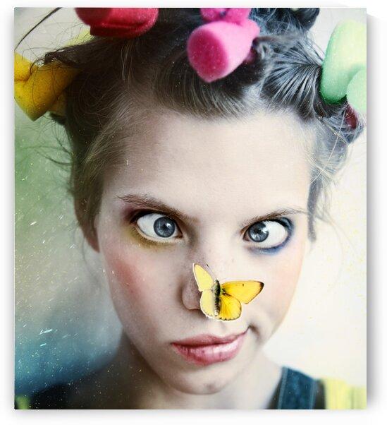 Kassandra and butterfly by Elena Vizerskaya