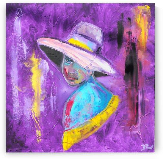 Woman in violet by DaoZedd