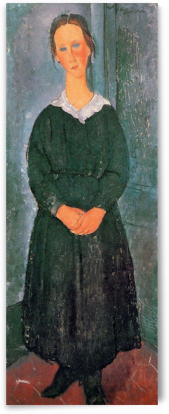 Modigliani - Young Housemaid by Modigliani