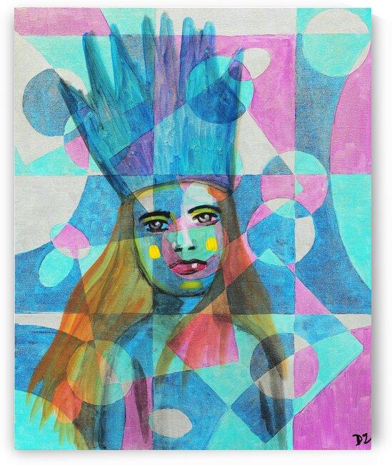 Woman in blue-5 by DaoZedd