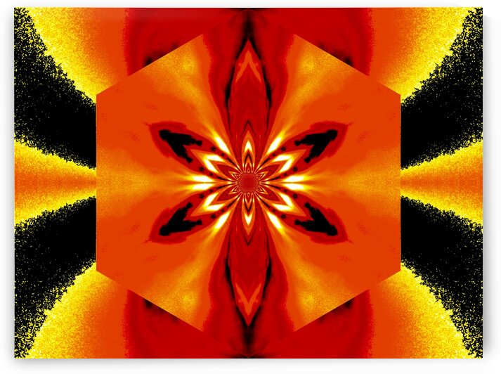 Flowers of Atlantis Golden Flare 5 by Sherrie Larch