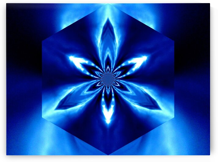Flowers of Atlantis Blue Lightening Storm 2 by Sherrie Larch