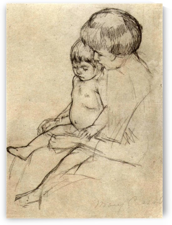 Mother and Child 2 by Cassatt by Cassatt
