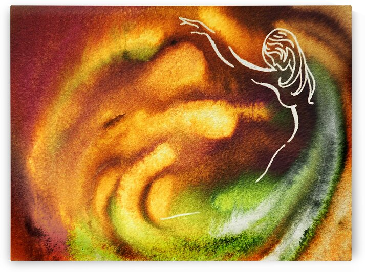 Gorgeous Dance Of Autumn Vortex Abstract Watercolor  by Irina Sztukowski