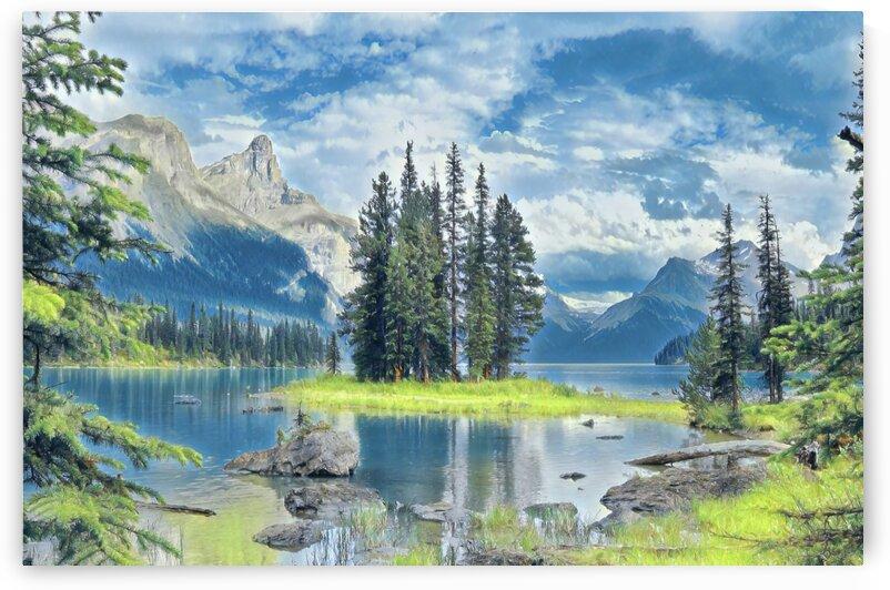 Spirit Island Watercolor Painting by Jonathan Kozub