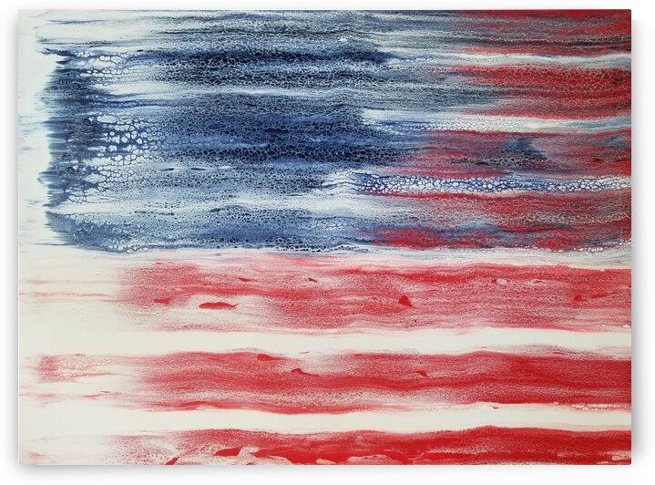 American Flag by Coastal Colors Art Co