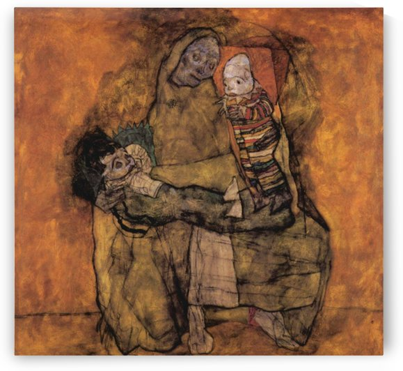 Mother with two children by Schiele by Schiele