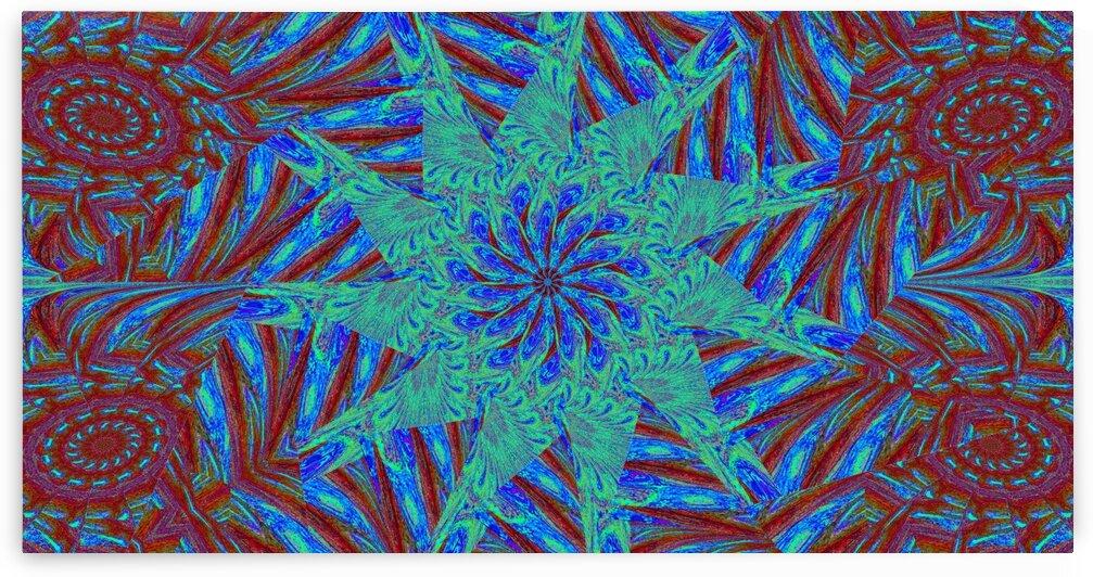 Blue Wheel Wildflower by Sherrie Larch