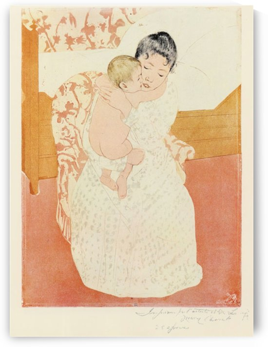Motherly tenderness by Cassatt by Cassatt