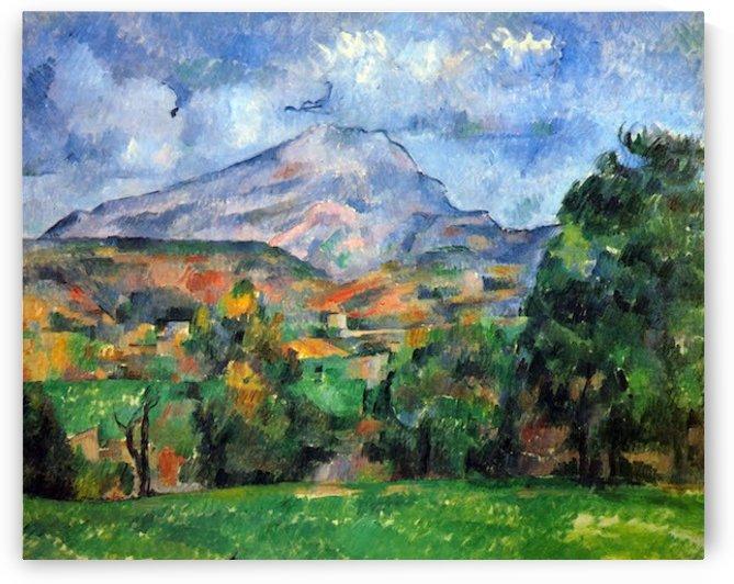 Mount St. Victoire by Cezanne by Cezanne