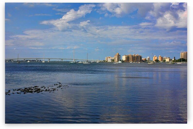 Sarasota Skyline Across The Bay by HH Photography of Florida