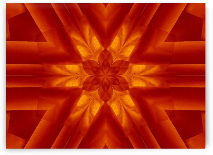 Golden Sun Fire Lotus by Sherrie Larch