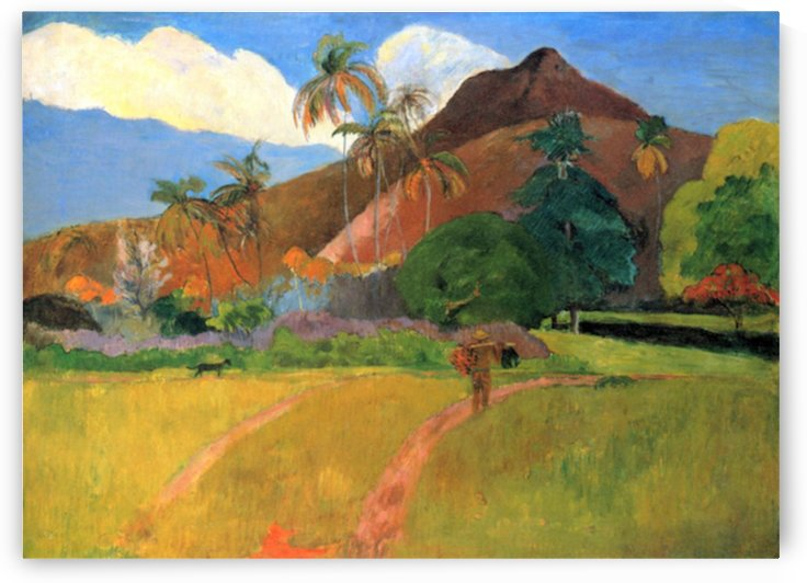 Mountains in Tahiti by Gauguin by Gauguin