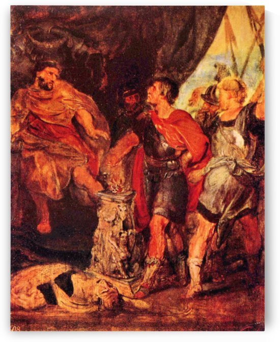 Mucius Scaevola before Porsenna by Rubens by Rubens