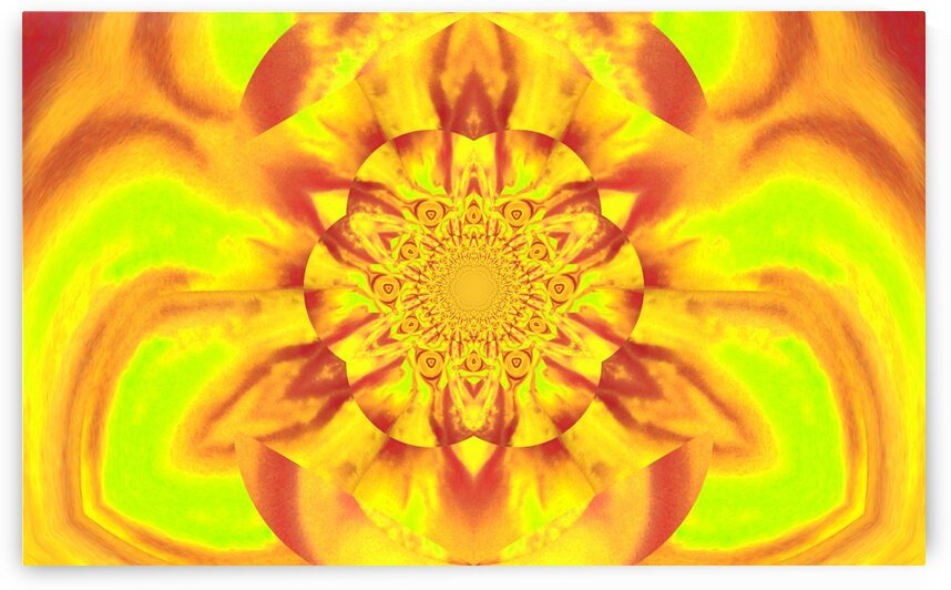 Lotus In Yellow Satin by Sherrie Larch