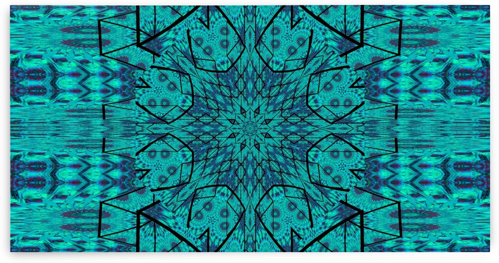 Blue Starlight Lotus by Sherrie Larch