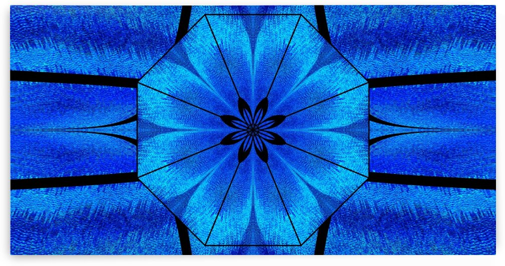 Black Lotus In Blue Moonlight by Sherrie Larch