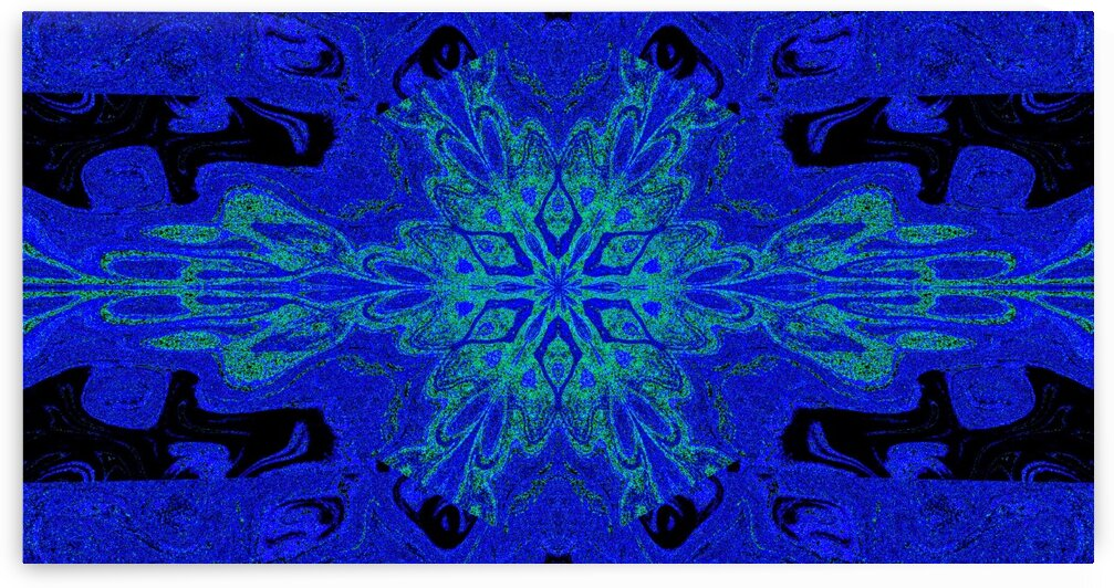 Blue Meadow Lotus 1 by Sherrie Larch