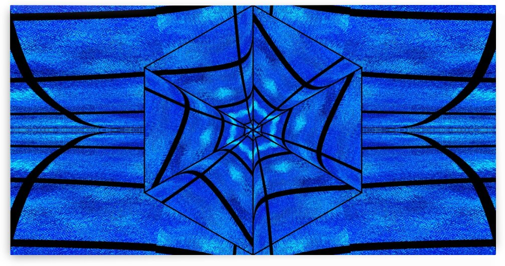 Blue Moonlight Lotus 2 by Sherrie Larch