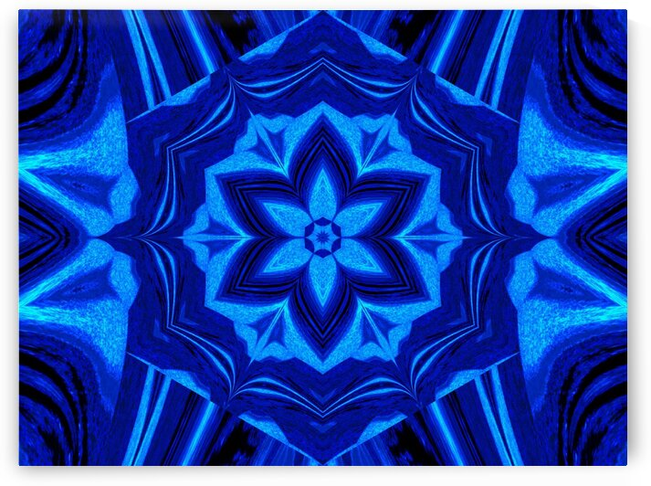 Blue Light Lotus by Sherrie Larch