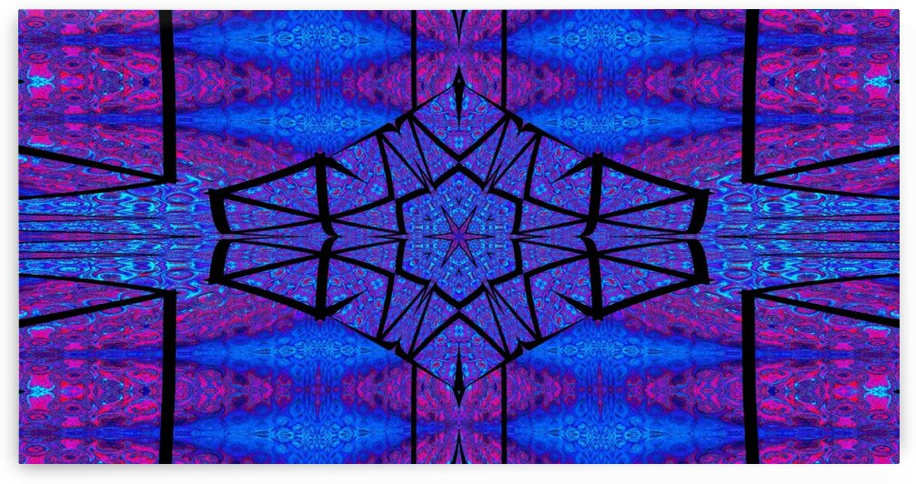 Blue Crystal Lotus 1 by Sherrie Larch