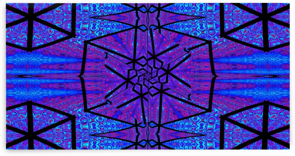 Blue Crystal Lotus 2 by Sherrie Larch