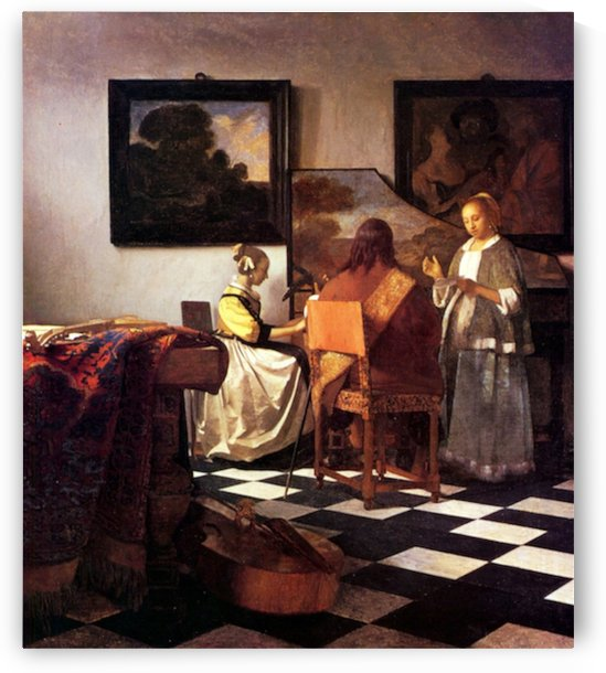 Musical Trio by Vermeer by Vermeer