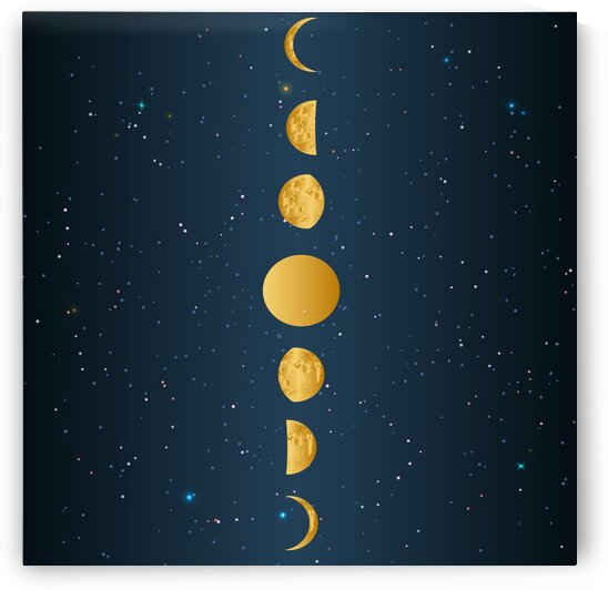 Golden Moon Phase  by rizu_designs