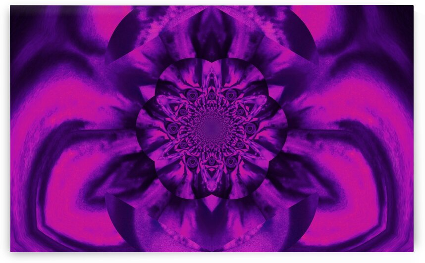 Lotus In Purple And Pink Satin by Sherrie Larch
