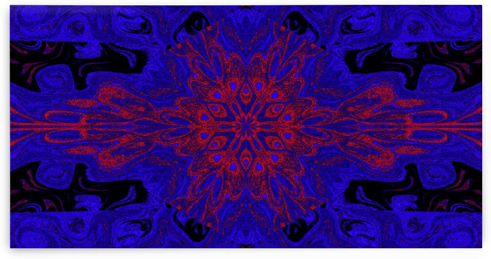Red And Blue Meadow Lotus by Sherrie Larch