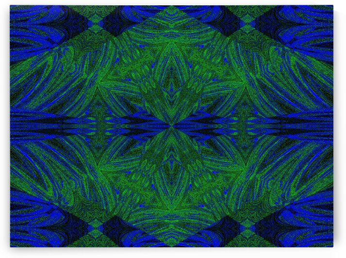 Blue Into Green Lotus by Sherrie Larch