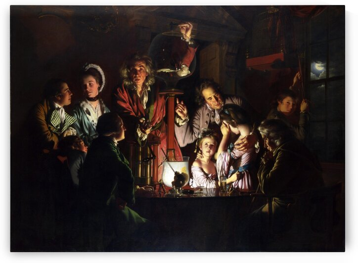 Joseph Wright of Derby:  An Experiment on a Bird in the Air Pump HD 300ppi by Stock Photography