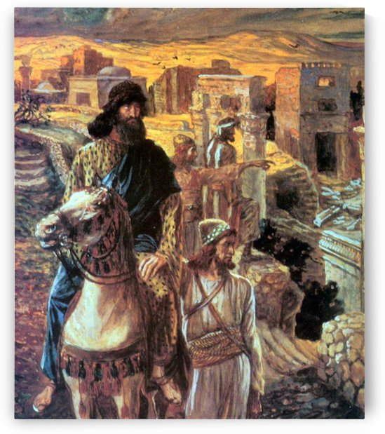 Nehemiah sees the rubble in Jerusalem by Tissot by Tissot