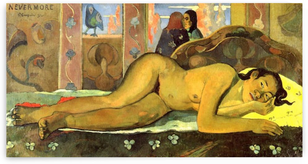Nevermore by Gauguin by Gauguin