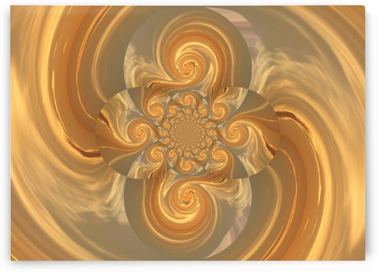 Gold Mating Phoenix Lotus by Sherrie Larch