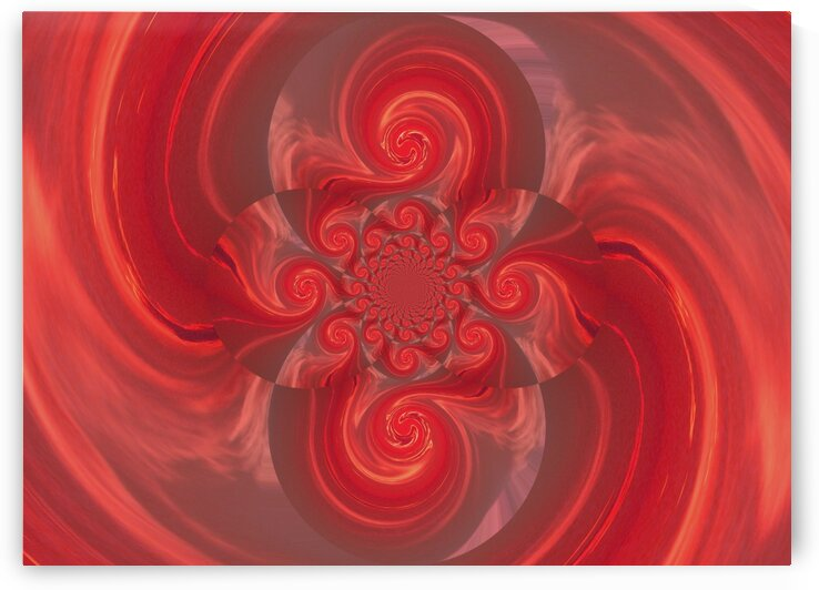 Scarlet Mating Phoenix Lotus by Sherrie Larch
