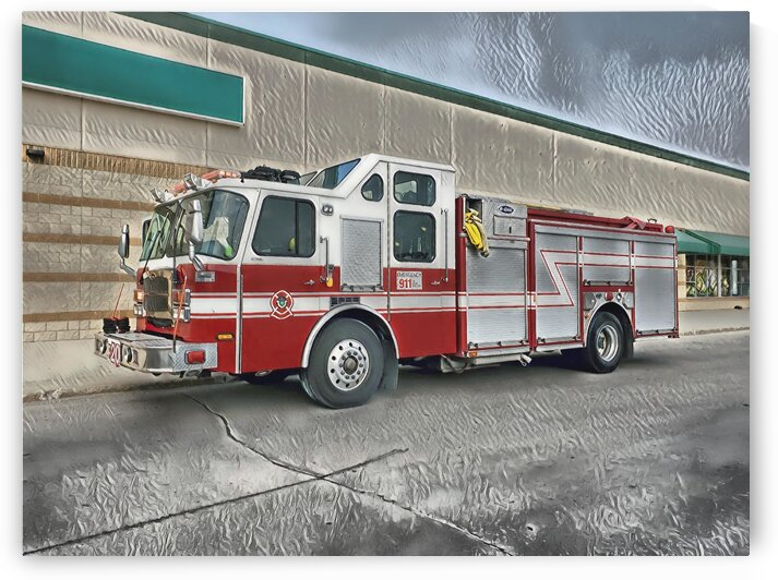 WFD Engine 20 2020 Painting by Jonathan Kozub